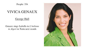 Vivica Genaux - interview with George Hall of Opera UK