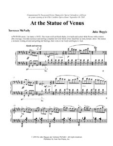 Music Score - Statue of Venus by Jake Heggie