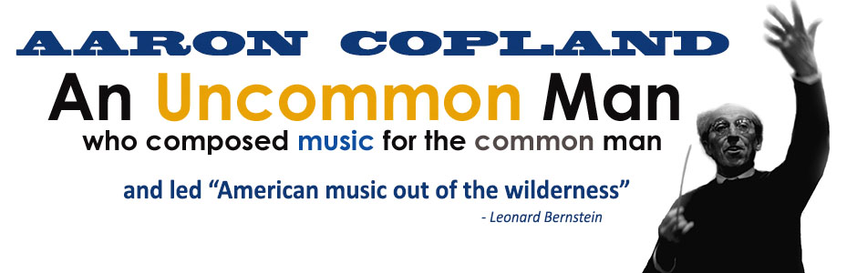 Composer Aaron Copland, the Bach of American music