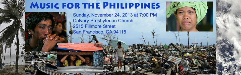 Benefit concert in San Francisco for typhoon victims of the Philippines